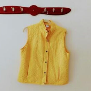 Zenergy by Chico Yellow Quilted Vest